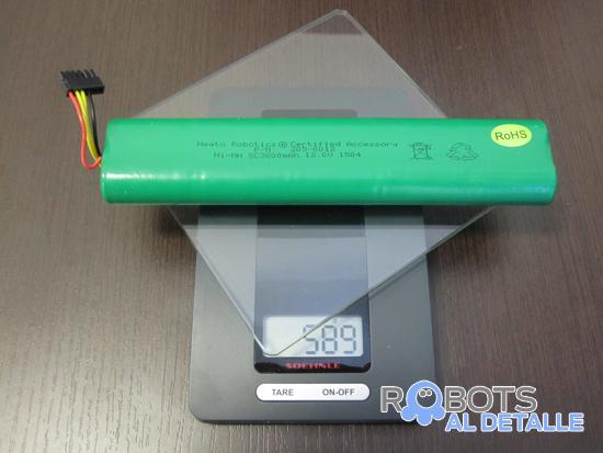pesaje bateria robot neato