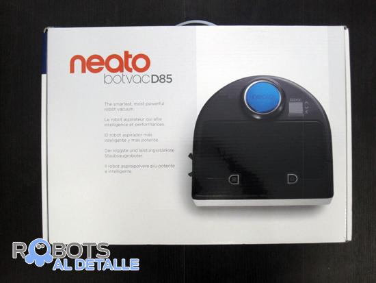 caja robot aspirador neato botvac d85