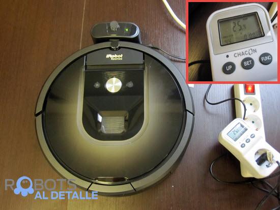 consumo electrico robot aspirador iRobot Roomba 980