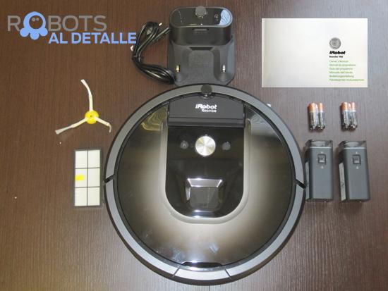 robot aspirador iRobot Roomba contenido