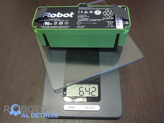 peso bateria roomba 980