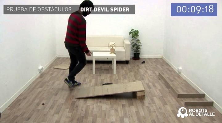 Aspiradores robot y obstáculos: Dirt Devil Spider