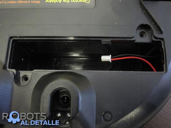 LG Hombot Square VR64604LV compartimento bateria