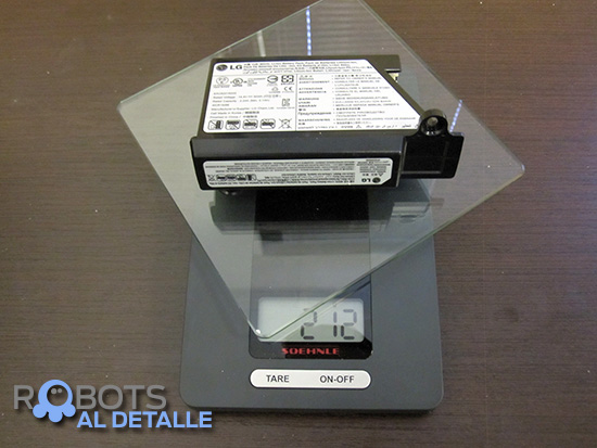 LG Hombot Square VR64604LV peso bateria