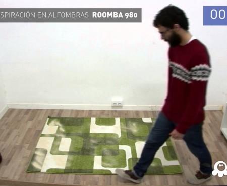 Prueba de aspiración en alfombras iRobot Roomba 980