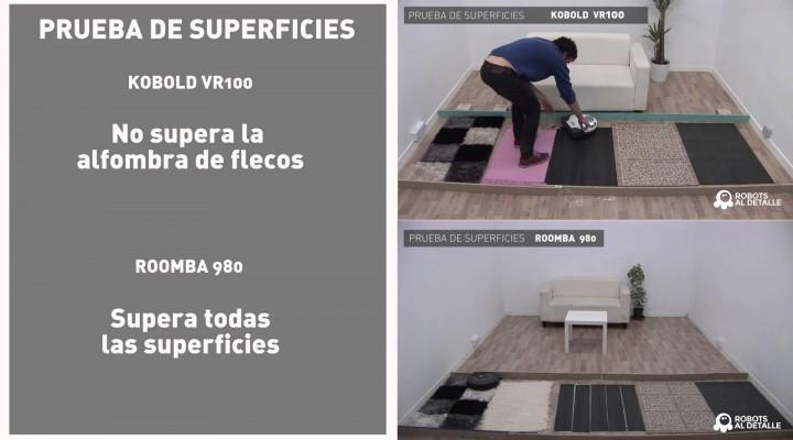 Comparativa pruebas: Kobold VR-100 vs. iRobot Roomba 980