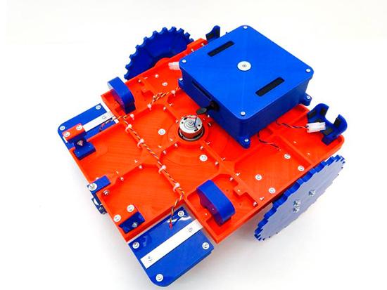 robot cortacesped impreso en 3d