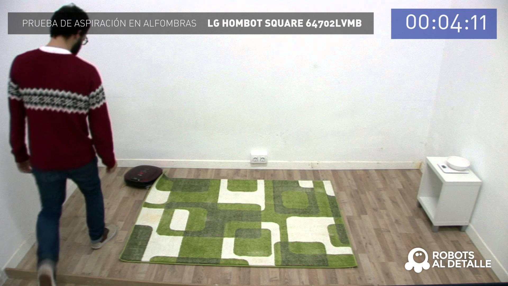 Un robot aspirador lg limpiando la alfombra - Robot aspirador alfombras ...