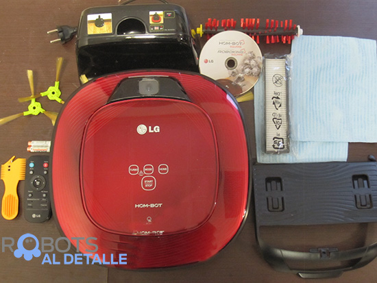 LG Hombot Square VR64702LVMB contenido