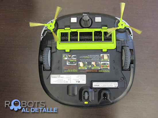 parte inferior robot LG Hombot Square VR64702LVMB