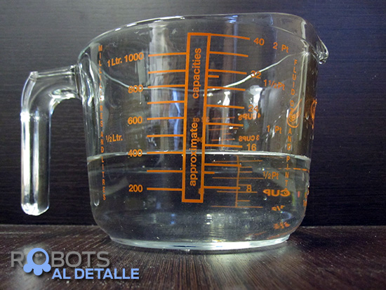 medida volumen deposito