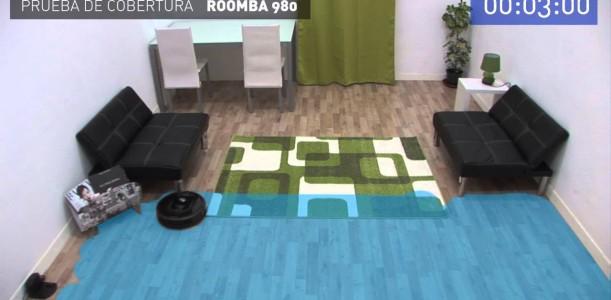 Prueba de cobertura iRobot Roomba 980