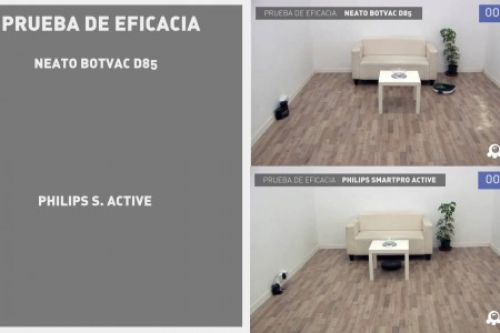 Pruebas comparadas: Neato Botvac D85 vs. Philips SmartPro Active