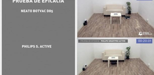 Pruebas comparadas: Neato Botvac D85 vs. Philips SmartPro Active