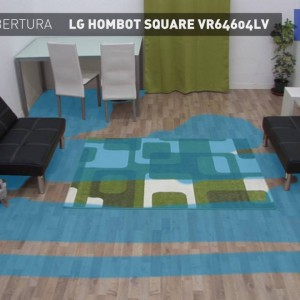 LG Hombot Square VR64604LV : prueba de cobertura