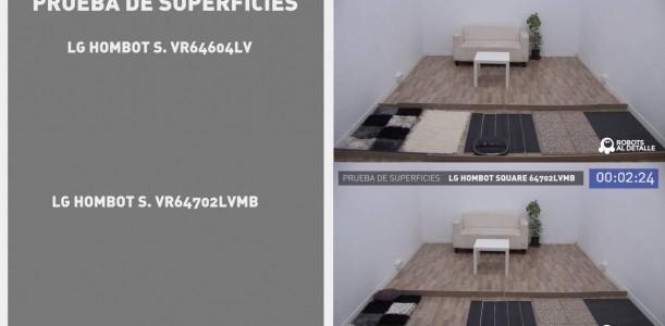 Comparativa pruebas LG Hombot Square: VR64702LVMB vs. VR64604LV
