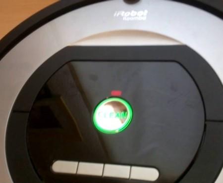 Comprobar sensores de choque robot Roomba