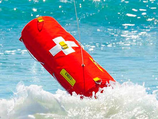 robot salvavidas en el agua