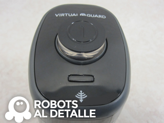 Robot aspirador Samsung Powerbot VR9000 pared virtual detalle