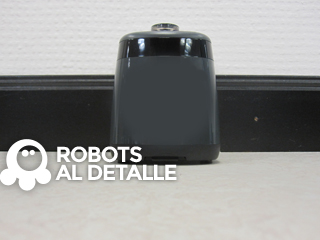 Robot aspirador Samsung Powerbot VR9000 pared virtual vista lateral
